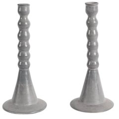 Dbila, Pair of Large Gray Candlesticks, Morocco