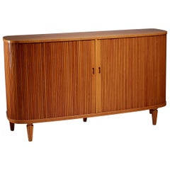 Swedish Elm Sideboard with Tambour Doors, 1940s