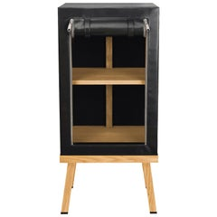 Visser and Meijwaard Truecolors Side Cabinet in Black PVC Cloth with Zipper