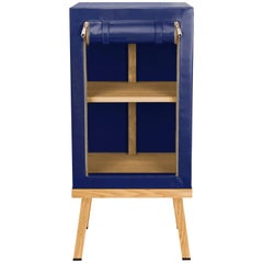 Visser and Meijwaard Truecolors Side Cabinet in Dark Blue PVC Cloth with Zipper