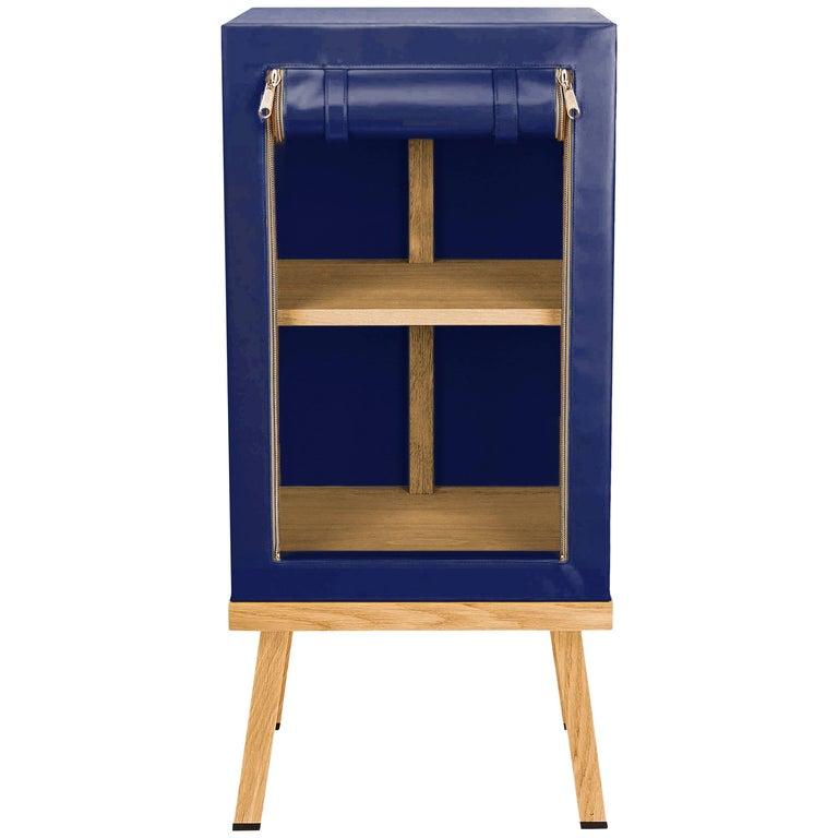 Visser and Meijwaard Truecolors Side Cabinet in Dark Blue PVC Cloth with Zipper