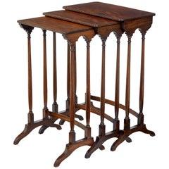 Nest of Three 19th Century Mahogany Tables