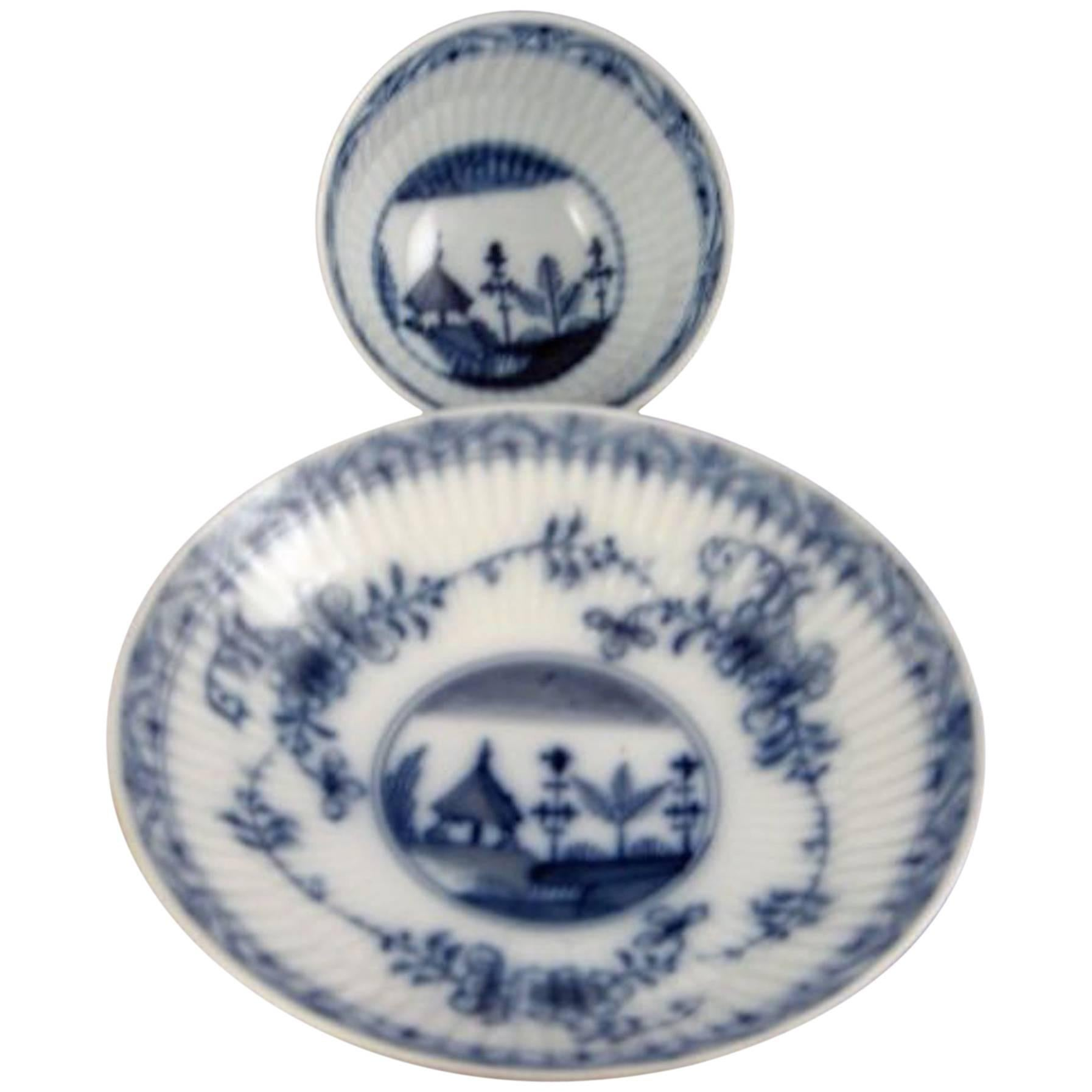 18th Century Antique Meissen Porcelain Cup and Saucer Marcolini