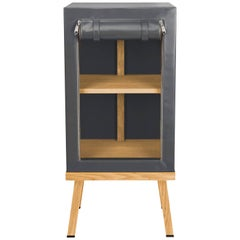 Visser and Meijwaard Truecolors Side Cabinet in Dark Grey PVC Cloth with Zipper