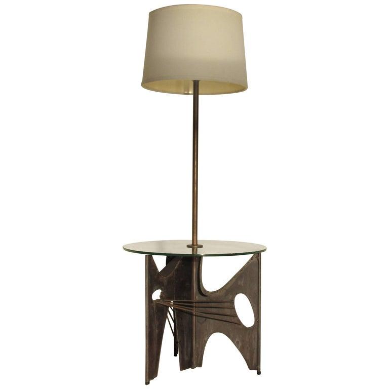 Brutalist Iron Sculpture Floor Lamp by Harry Balmer for Laurel