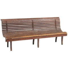 Slatted Wooden Bench, circa 1930