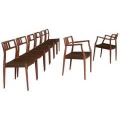 Set of Eight Rosewood Niels O. Møller Model 64/79 Dining Chairs, Denmark, 1960s