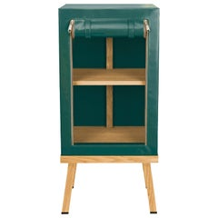 Visser and Meijwaard Truecolors Side Cabinet in Green PVC Cloth with Zipper