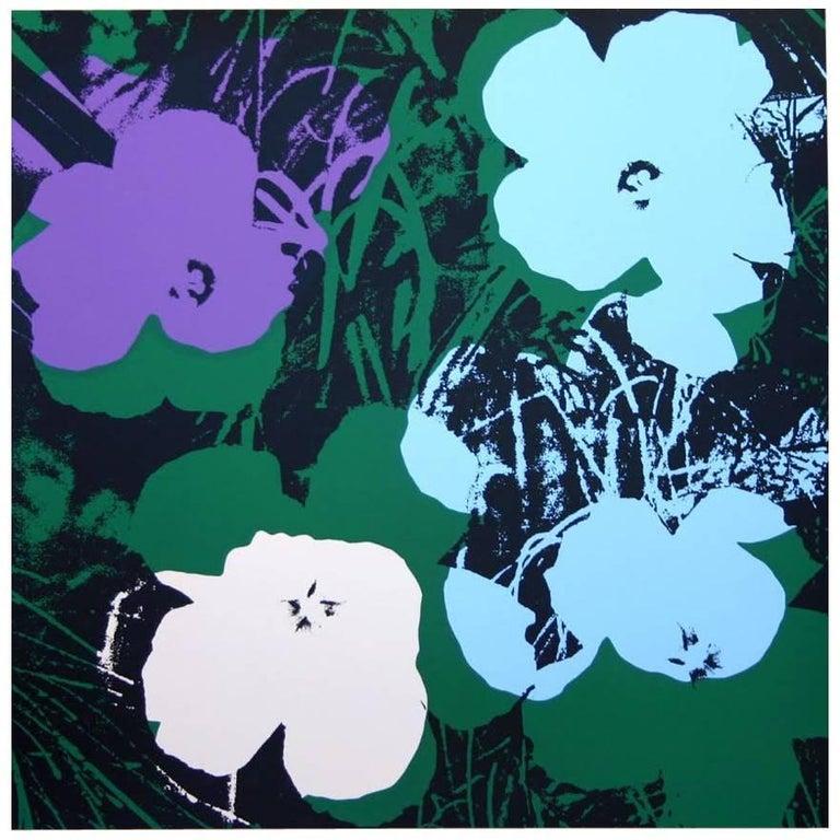 "Andy Warhol ""Flowers"" Silkscreen Print For Sale"