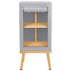 Visser and Meijwaard Truecolors Side Cabinet in Grey PVC Cloth with Zipper