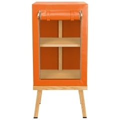 Visser and Meijwaard Truecolors Side Cabinet in Orange PVC Cloth with Zipper