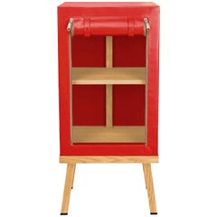 Visser and Meijwaard Truecolors Side Cabinet in Red PVC Cloth with Zipper