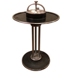 Climax Streamlined Art Deco Train Car Cocktail Smoker Stand Ashtray Side Table