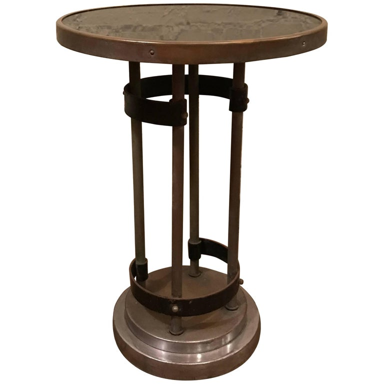 Art Deco Round Side Table by Gilbert Rohde
