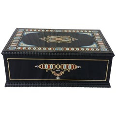 Napoleon III Boulle Marquetry Jewelry Box in Five Noble Materials