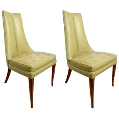 Pr. Stylish High Back Side Chairs