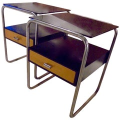 Pair of Modernist Bauhaus Side Tables