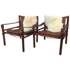 Pair of Arne Norell Sirocco Lounge Chairs in Rosewood