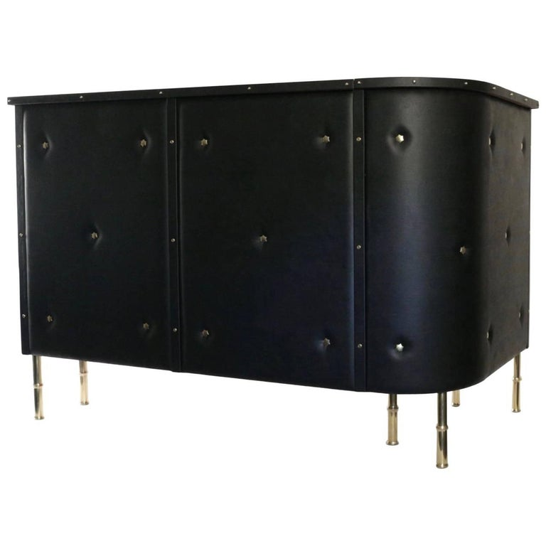 1950s Jacques Adnet Bar For Sale