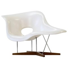 La Chaise by Eames for Vitra Chaise Lounge Recliner Chair Armchair