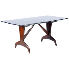 Midcentury Precious Inlaid Table by Dassi