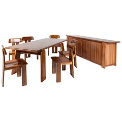 Full Set of Dining Room by Tobia & Afra Scarpa for Maxalto, circa 1970