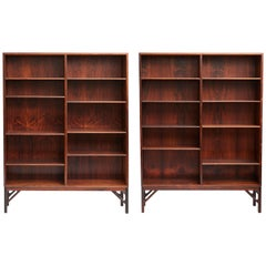 Pair of Rosewood Bookcases by Borge Mogensen, circa 1950