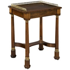 Early 19th Century Regency Period Rosewood and Brass Mounted Side Table