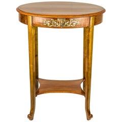 Art Deco Table Polished Nut Wood, circa 1920