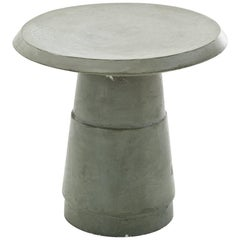 """Piston"" Ceramic Side Table with Concrete Finish by Moroso for Diesel"