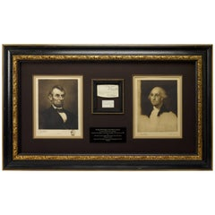 George Washington and Abraham Lincoln Autographed Collage, 1778-1861