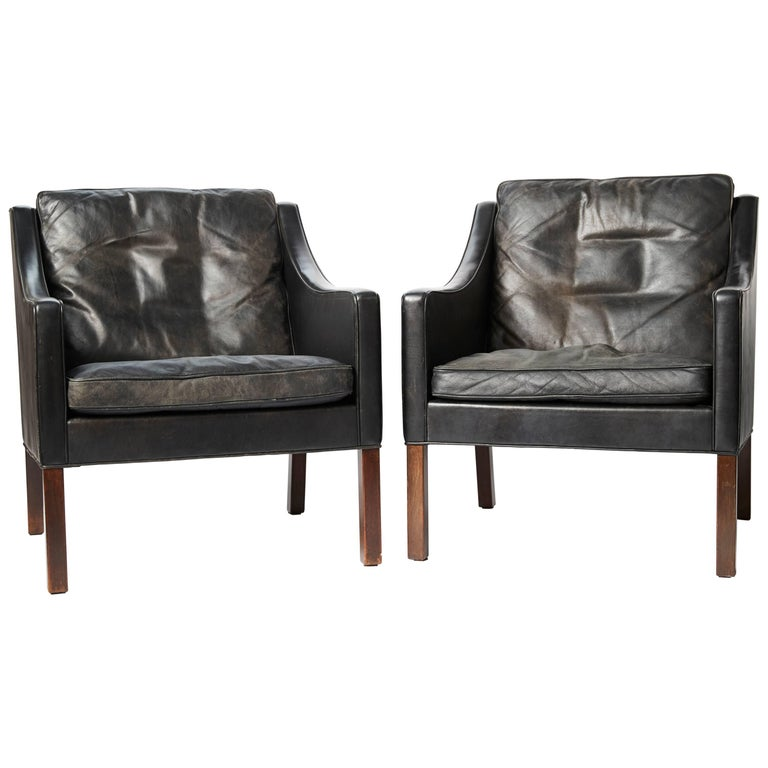 Pair of Armchairs by Børge Mogensen, circa 1960