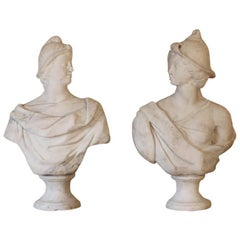 Fine Pair of 18th Century Italian Marble Busts
