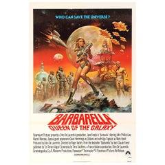 Original Barbarella Queen of the Galaxy Movie Poster (1977 Release) - Jane Fonda