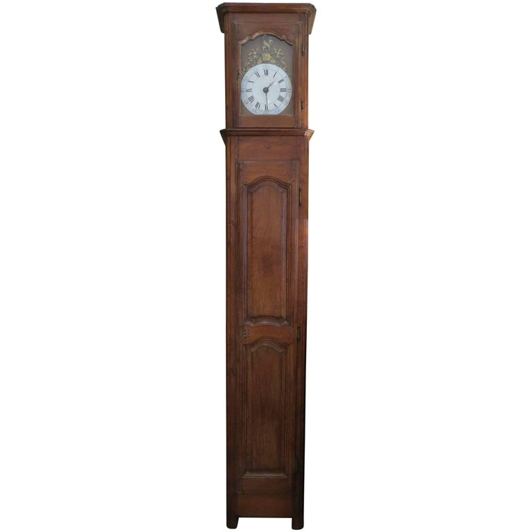 Tall 19th Century French Oak Clock Case