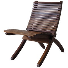 1960s Paolo Tilche Midcentury Solid Wood Removable Italian Chair