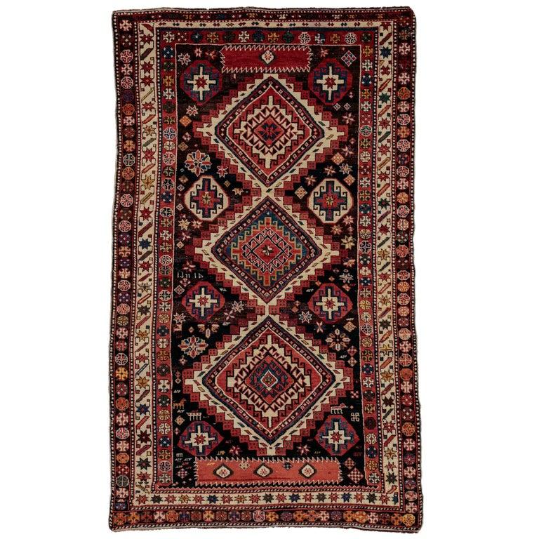 Antique Caucasian Shirvan Large Rug