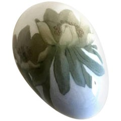 Bing & Grondahl Art Nouveau Egg with Flowers