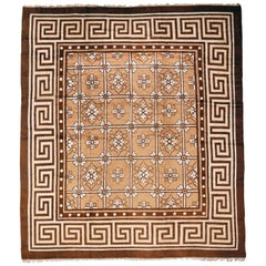 Antique Geometric Mongolian Chinese Rug