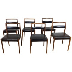 Midcentury Rosewood Dining Chairs, Set of Six