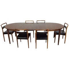 Midcentury Dining Table and Six Chairs