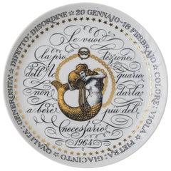 Vintage Fornasetti Zodiac Dish Acquarium, 1964
