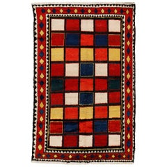Vintage Chequerboard Gabbeh Large Rug