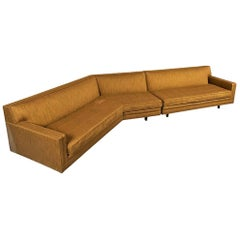Harvey Probber Sectional in Original Upholstery with Triangular Custom Table