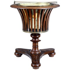 Unusual 19th Century Dutch Marquetry Wine Cooler Ice Bucket