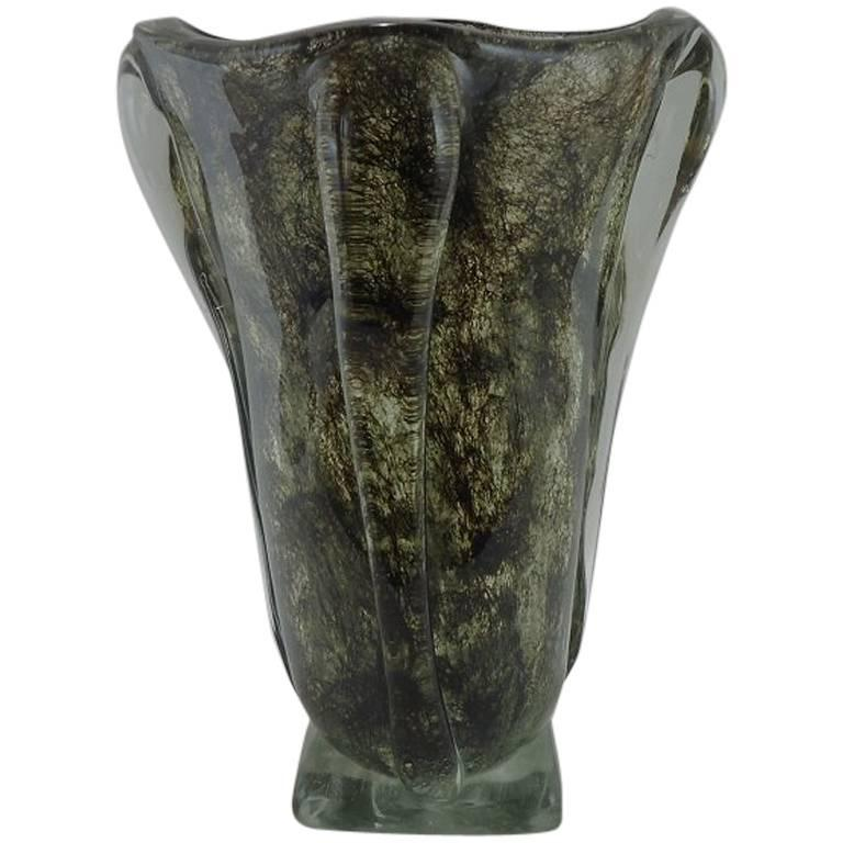 1935 36 Ercole Barovier For Ftb Murano Glass Vase From The