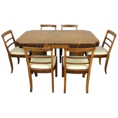Art Deco Dining Table and Six Chairs