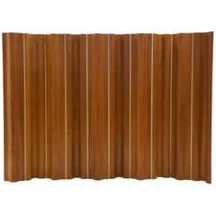 Ten-Panel Eames Folding Screen, FSW-10, in Teak for Herman Miller, Very Rare