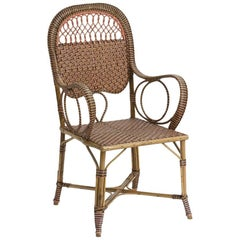 French Manufacture, Rattan Armchair, circa 1900-1920