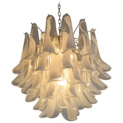 Italian Vintage Murano Chandelier in the Manner of Mazzega, 41 Glass Petals